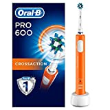 Oral-B Pro 600Elektrische Zahnbürste, mit CrossAction Aufsteckbürste
